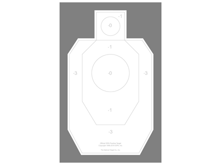 National Target Practice IDPA Target Paper Package of 100