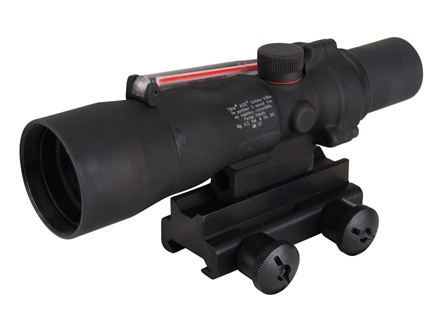 Trijicon ACOG TA33 BAC Rifle Scope 3x 30mm Dual-Illuminated Red Chevron 308 Winchester Reticle with TA60 Flattop Mount Matte