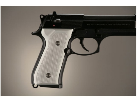 Hogue Extreme Series Grip Beretta 92F, 92FS, 92SB, 96, M9 Checkered Aluminum Matte Clear