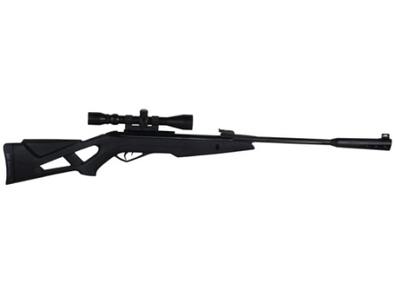 Gamo Silent Stalker Whisper Inert Gas Technology (IGT) Pellet Air Rifle Black Synthetic Stock Fluted Polymer Jacketed Steel Barrel with Gamo Airgun Scope 3-9x 40mm Matte