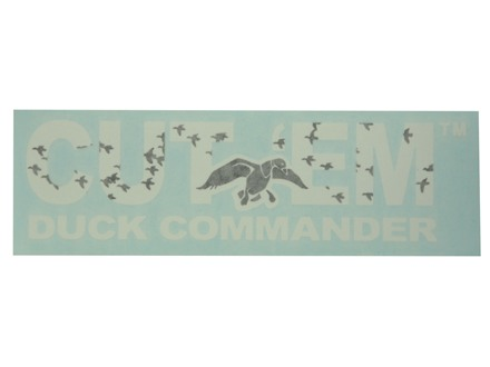 Duck Commander Cut 'Em Decal White