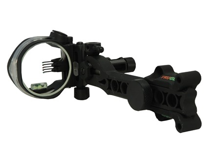 TruGlo Micro-Brite Detachable Bracket 5-pin Bow Sight (.10) pins) with Light Black