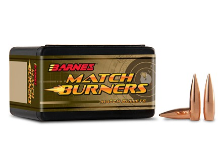 Barnes Match Burner Bullets 22 Caliber (224 Diameter) 69 Grain Boat Tail Box of 100