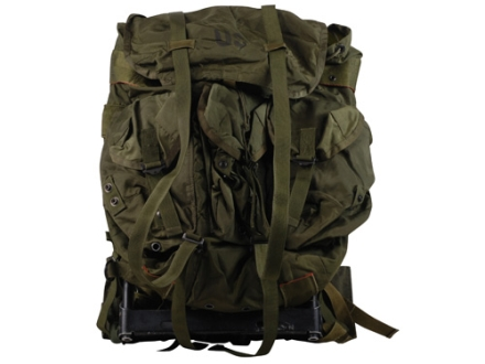 Military Surplus Medium ALICE Pack Complete with Frame Assembly Nylon Olive Drab