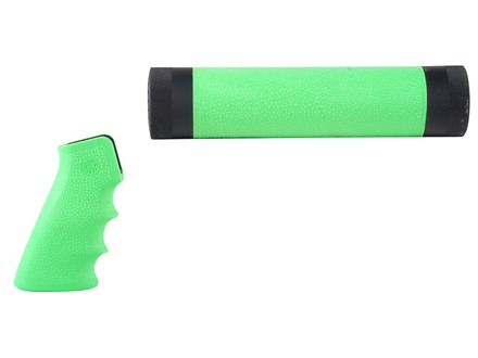Hogue OverMolded Pistol Grip and Free Float Tube Handguard AR-15 Mid Length Rubber Zombie Green