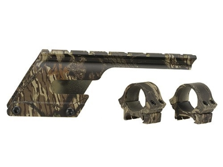 "B-Square Shotgun Saddle Mount with 1"" Rings Remington 1100 and 11-87 12 Gauge Mossy Oak Break-Up Camo"