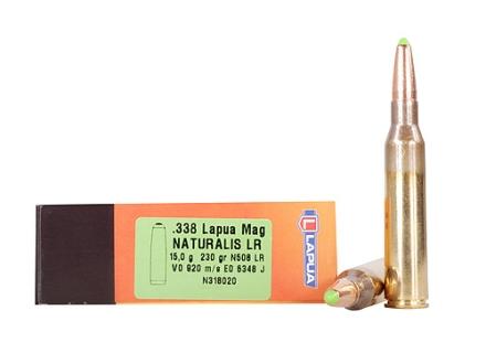 Lapua Naturalis Ammunition 338 Lapua Magnum 230 Grain Round Nose Lead-Free Box of 10