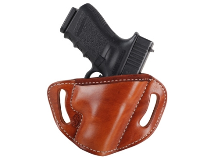 El Paso Saddlery #88 Street Combat Outside the Waistband Holster Right Hand Glock 26, 27, 33 Leather Russet Brown