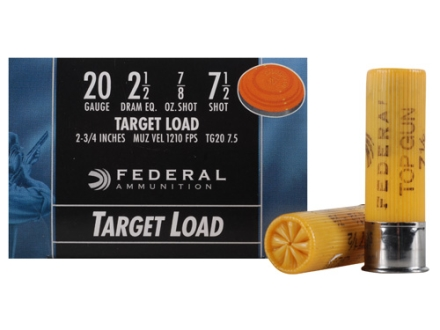 "Federal Top Gun Ammunition 20 Gauge 2-3/4"" 7/8 oz #7.5 Shot"