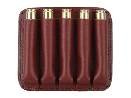 Boyt Ammo Wallet Rifle Ammunition Carrier 5-Round 7mm Remington Magnum to 470 Nitro Express Leather Brown