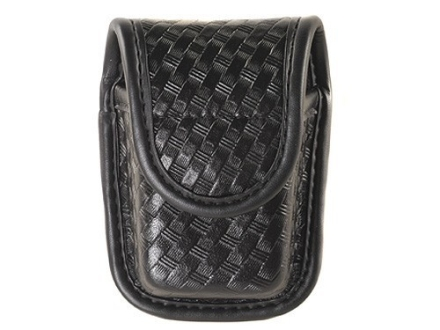 Bianchi 7915 AccuMold Elite Pager or Glove Pouch Hidden Snap Basketweave Trilaminate Black