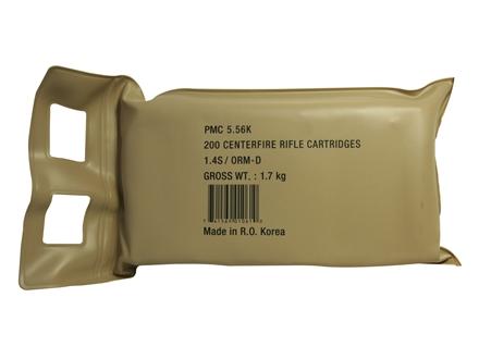PMC Bronze Ammunition 223 Remington 55 Grain Full Metal Jacket Battle Pack of 200 (10 Boxes of 20)