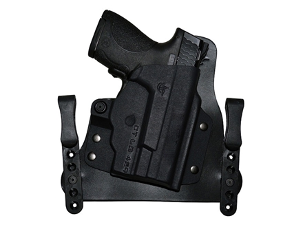 Comp-Tac MERC Inside the Waistband Holster Kahr P9 with Laser Kydex and Leather Black