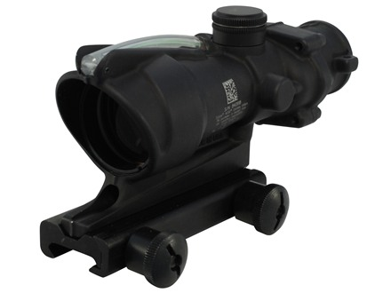 Trijicon ACOG TA31 BAC Rifle Scope 4x 32mm Dual-Illuminated Chevron 223 Remington Reticle with TA51 Flattop Mount Matte