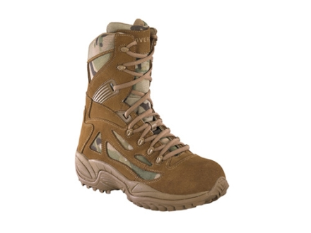 "Converse Stealth 8"" Tactical Boots Suede and Ballistic Nylon Uninsulated  Coyote Brown and Multi-Cam Men's 8.5 M"
