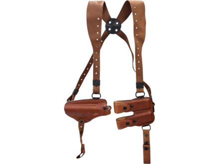 Bianchi X16 Agent X Shoulder Holster System Left Hand Walther PP, PPK, PPK/S Leather Tan