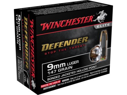 Winchester Supreme Elite Self Defense Ammunition 9mm Luger 147 Grain Bonded PDX1 Jacketed Hollow Point