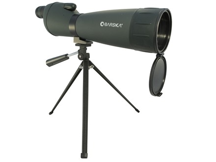 Barska Spotting Scope 25-75x 75mm Straight Body with Tripod and Soft Case Green