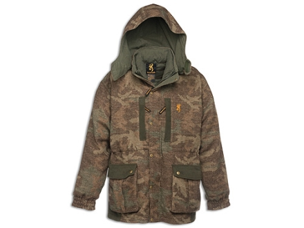 Browning Men's Full Curl Wool 3-in-1 Parka Insulated Wool Browning All Terrain Camo 2XL 49-51