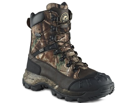 "Irish Setter Grizzly Tracker 9"" Waterproof 400 Gram Insulated Hunting Boots Nylon and Leather Realtree AP Camo Men's 8 D"