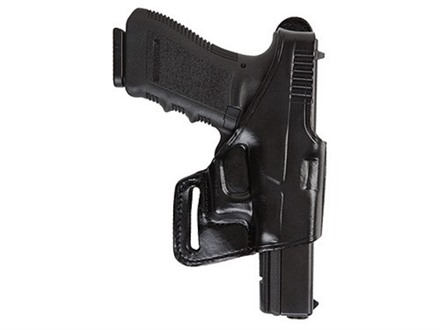 Bianchi 75 Venom Belt Holster Right Hand Glock 17, 19, 22, 23, 26, 27, 34, 35 Leather Black