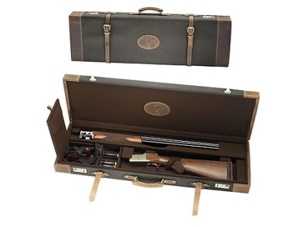 "Browning Crazy Horse Takedown Shotgun Gun Case 32"" Canvas with Leather Trim Green"