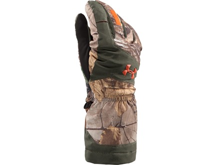 Under Armour Gunpowder Infrared Waterproof Insulated Gloves Synthetic Blend Realtree Xtra Camo XL
