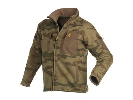 Browning Men's FCW Mountain Windkill Jacket Wool All-Terrain Brown Camo