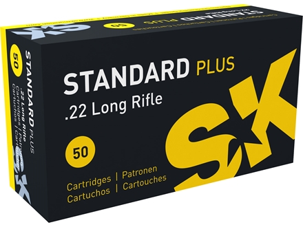 SK Standard Plus Ammunition 22 Long Rifle 40 Grain Lead Round Nose
