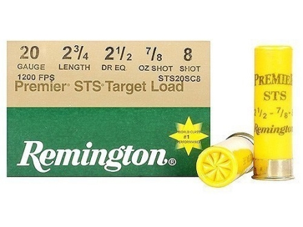 "Remington Premier STS Target Ammunition 20 Gauge 2-3/4"" 7/8 oz #8 Shot"