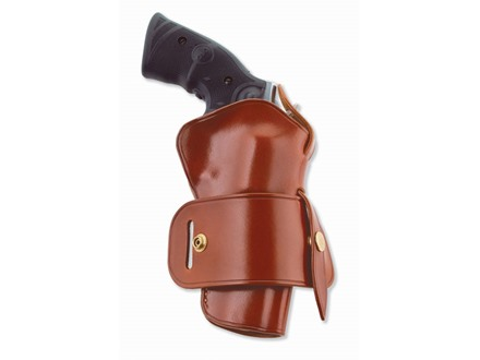 "Galco Wheel Gunner Belt Holster Right Hand Taurus Judge 2-1/2"" Cylinder 3"" Barrel Leather Tan"