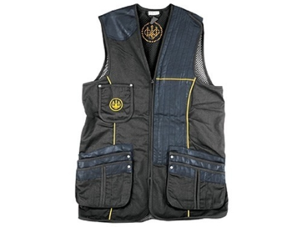 Beretta Gold Shooting Vest Left Hand Cotton and Polyester Blend