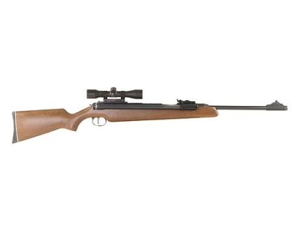 RWS 48 Air Rifle 177 Caliber Pellet Wood Stock Blue Barrel with RWS Airgun Scope 4x 32mm Matte