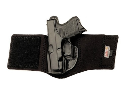 Galco Ankle Glove Holster Left Hand Kahr K40, K9, P40, P9 Leather with Neoprene Leg Band Black