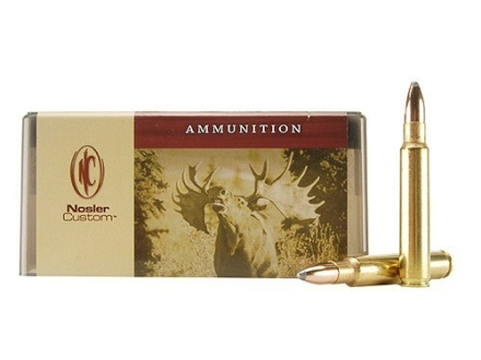 Nosler Custom Ammunition 375 Remington Ultra Magnum 260 Grain Partition Spitzer Box of 20