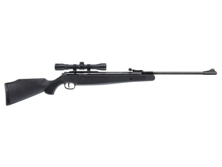 Ruger Air Magnum Air Rifle 22 Caliber Black Polymer Stock Blued Barrel with Airgun Scope 4x32mm Matte