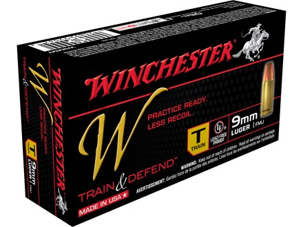 Winchester W Train Reduced Lead Ammunition 9mm Luger 147 Grain Full Metal Jacket