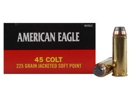 Federal American Eagle Ammunition 45 Colt (Long Colt) 225 Grain Jacketed Soft Point Box of 50
