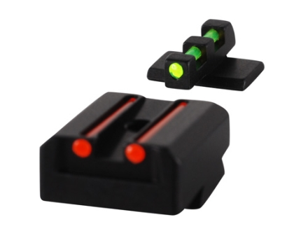 Williams Fire Sight Set 1911 Taurus Aluminum Black Fiber Optic Green Front, Red Rear
