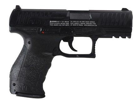 Walther PPQ Air Pistol 177 Caliber Wood Grip Blue Barrel