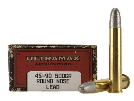 Ultramax Cowboy Action Ammunition 45-90 WCF 500 Grain Lead Flat Nose Box of 20