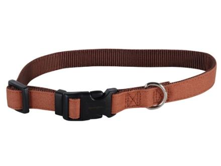 "Remington Adjustable Clip Dog Collar 3/4"" Canvas and Nylon"