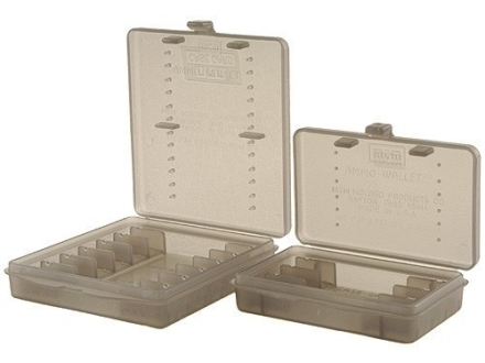 MTM Ammo Wallet Pistol Ammunition Carrier 6-Round and 12-Round Combo 44 Special, 44 Remington Magnum Clear-Smoke