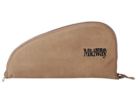 "MidwayUSA Pistol Case 15"" Suede Tan"