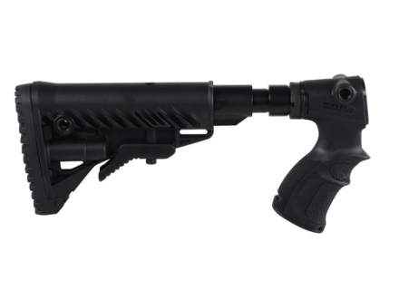Mako M4-Style Collapsible Buttstock with Recoil Reducing Shock Absorber Remington 870 Synthetic Black