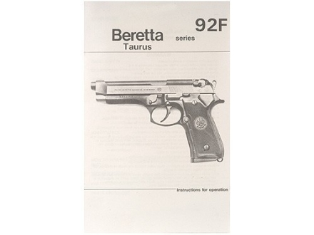 """Beretta, Taurus 92F Series"" Manual"