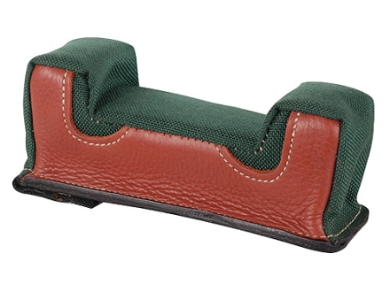 Edgewood Front Shooting Rest Bag Common Varmint Width with Extra Reinforcment Leather and Nylon Green Unfilled