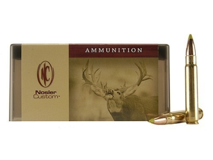 Nosler Custom Ammunition 9.3x62mm Mauser 250 Grain AccuBond Spitzer Box of 20