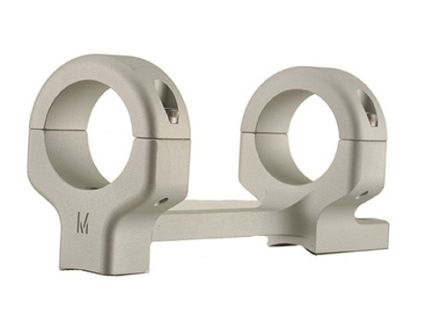 "DNZ Products Game Reaper 1-Piece Scope Base with 1"" Integral Rings Remington 7 Silver Low"