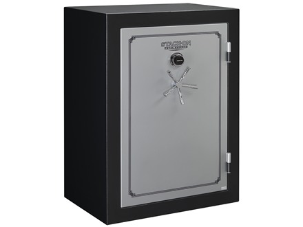 Stack-On Total Defense Fire-Resistant 54-Gun Safe with Combination Lock Matte Black and Silver with Door Storage